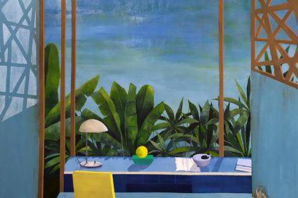 peinture, huile sur toile, intérieur