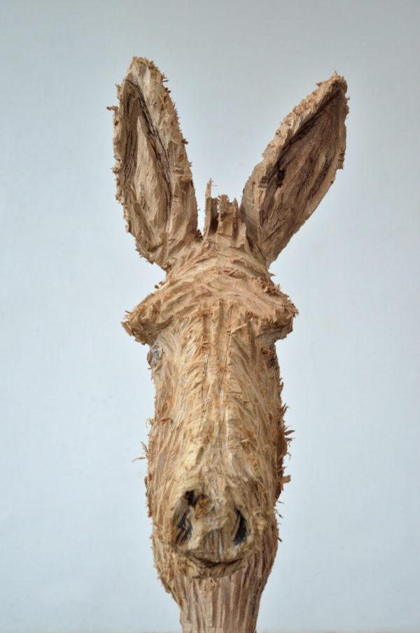 âne en bois du sculpteur Jules Andrieu