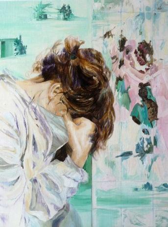 femme-triste-acrylic-painting