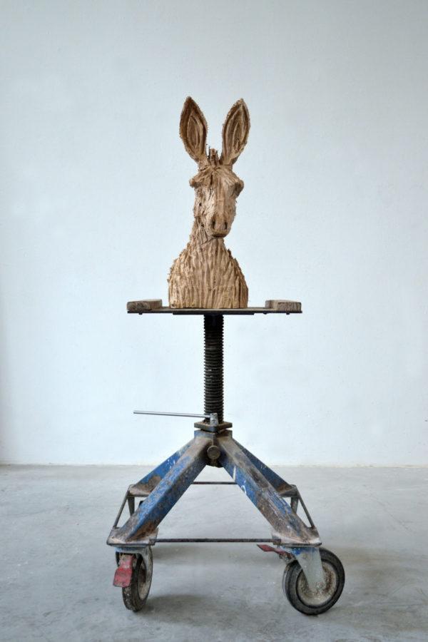 sculpture en bois de Jules Andrieu, art contemporain