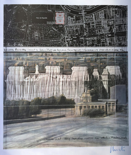 Christo-et-Jeanne-Claude-Wrapped-Reichstag-Project-for-Berlin-1984