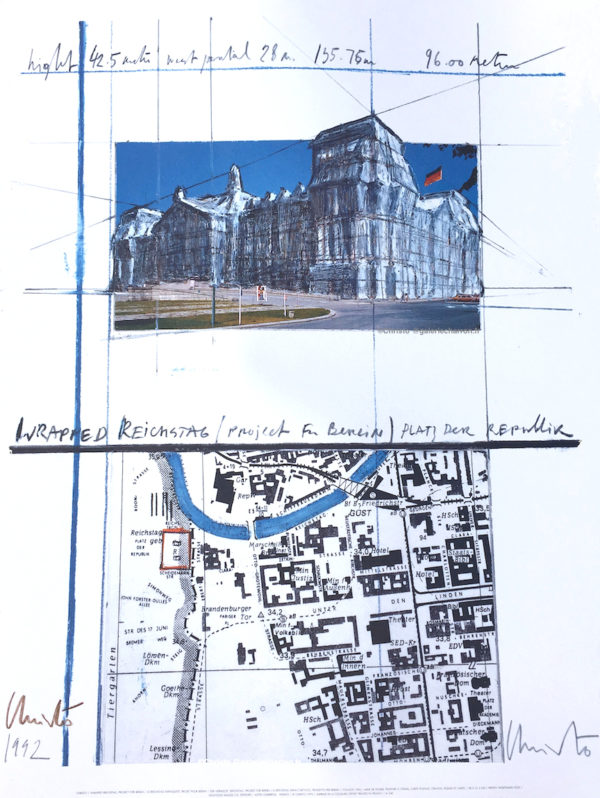Christo-et-Jeanne-Claude-Wrapped-Reichstag-Project-for-Berlin-1992