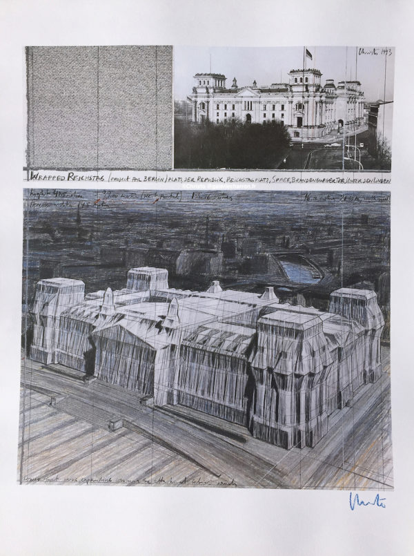 Christo-et-Jeanne-Claude-Wrapped-Reichstag-Project-for-Berlin-1993