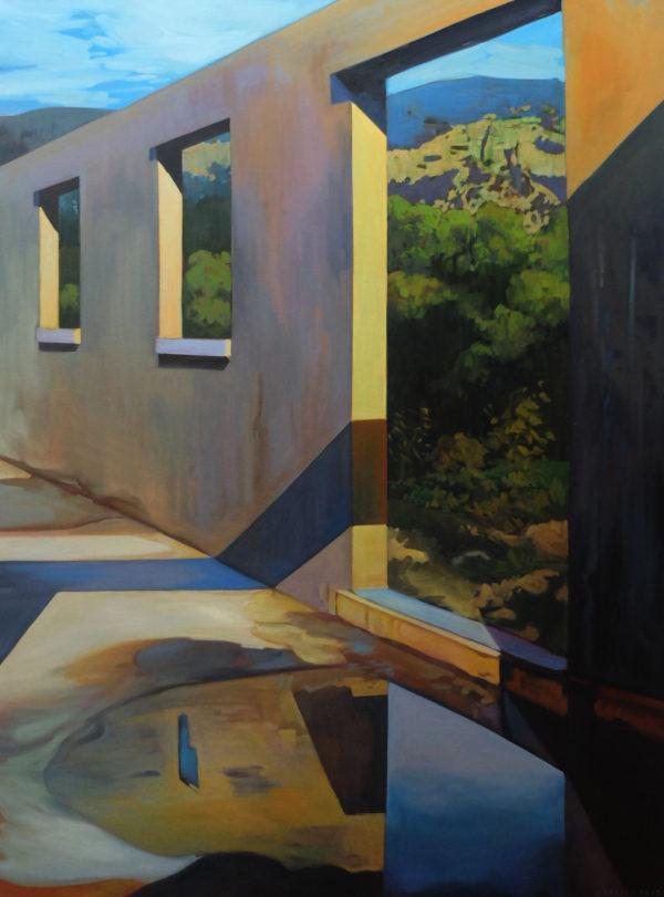 Peinture acrylique d'architecture et paysage