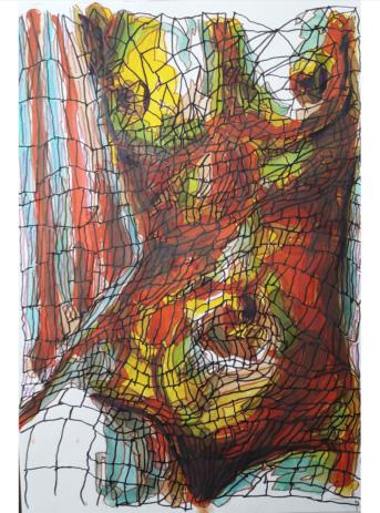 dessin femme sur papier