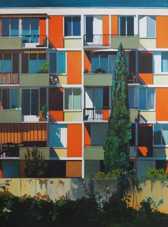 Peinture acrylique immeuble Villeurbanne à Lyon
