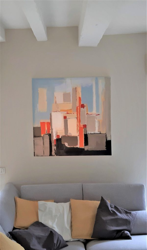 peinture expressionnisme abstrait colorée