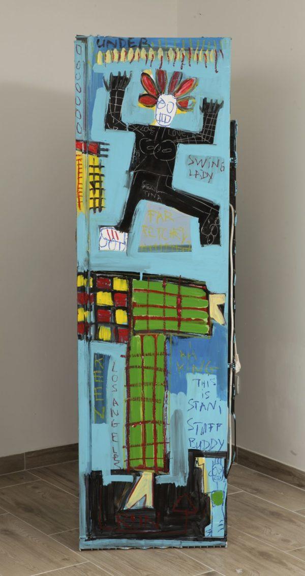 Hommage au frigo de Basquiat by Stani